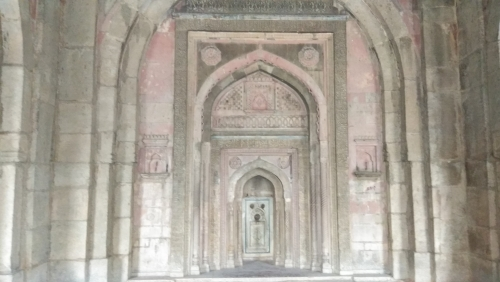 3 Doors of Jamali Kamali Mosque. Quran Aayats Were Written on All Doors.