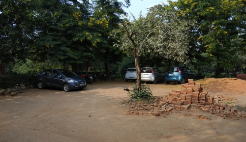 Parking of Mehrauli Archaeological Park