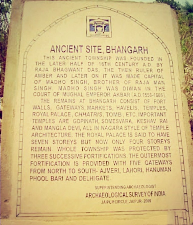 Board At Bhangarh