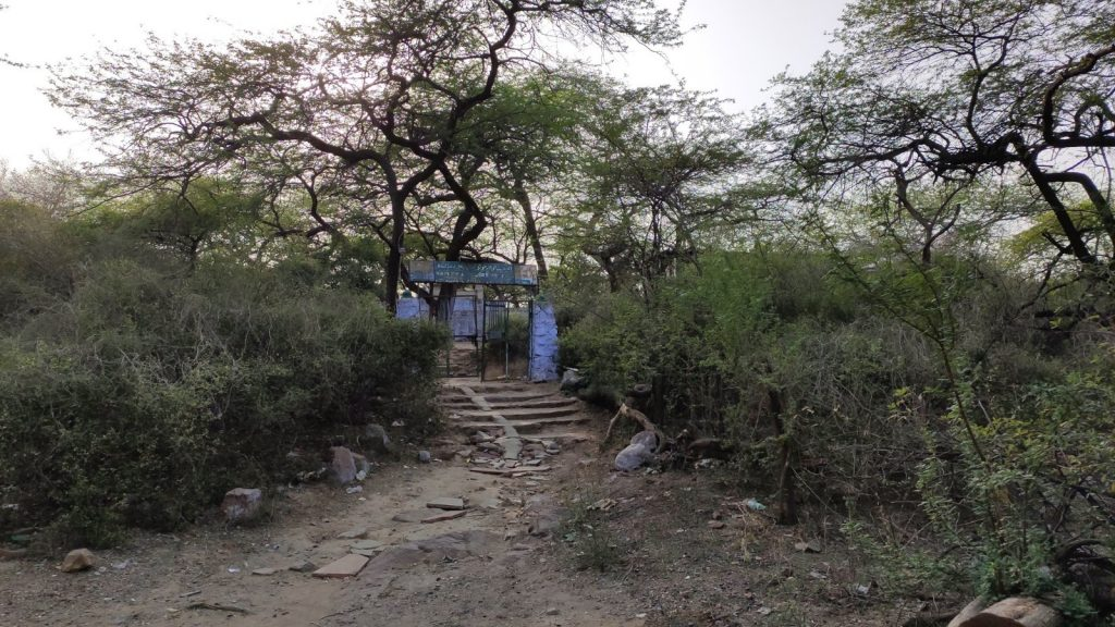 Dargah deep inside Malcha village